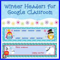 TpT Winter Google Classroom Headers Cover
