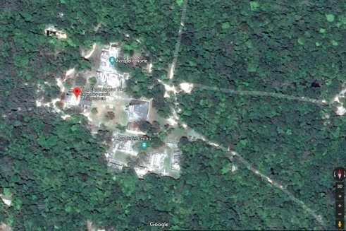 Screenshot of Jaguar Temple from Google Maps