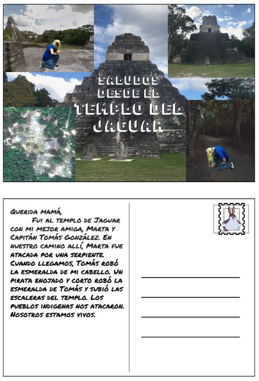 postcard jaguar temple